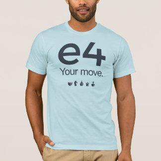 Camisa del ajedrez: e4