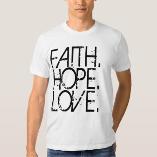 Camisa del amor de la esperanza de la fe