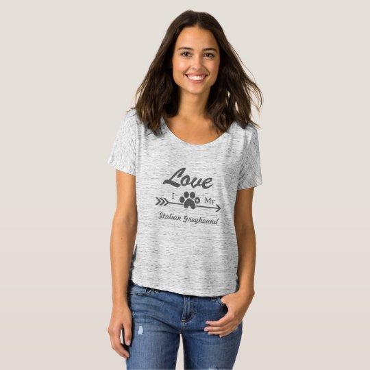Camisa del amor del galgo italiano