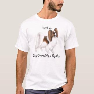 Camisa del amor del perro de Papillon
