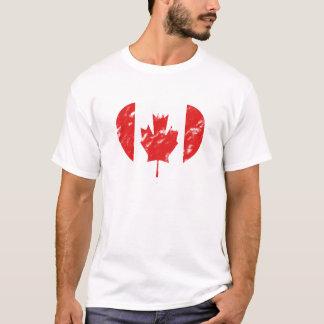 Camisa del amor del vintage de Canadá