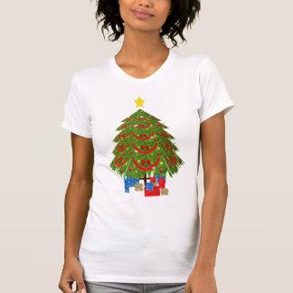 camisa del árbol de navidad 3D