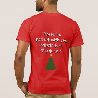Camiseta Camisa del árbol de navidad del autismo (oscura)