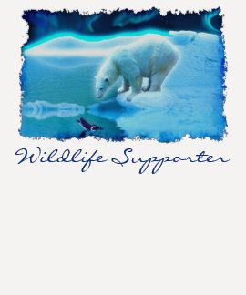 Camisa del arte del Fauna-partidario del oso polar