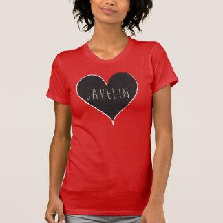Camisa del atletismo del corazón de la jabalina