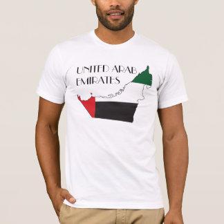 Camisa del Bandera-Mapa de United Arab Emirates