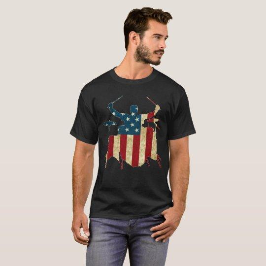 Camisa del batería de la bandera americana