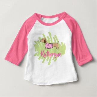 Camisa del bebé de los corazones del Dachshund