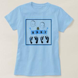 Camisa del bebé de los gemelos