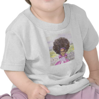Camisa del bebé del Afro de Rapunzel