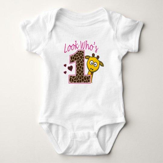 Camisa del bebé del cumpleaños del chica de la