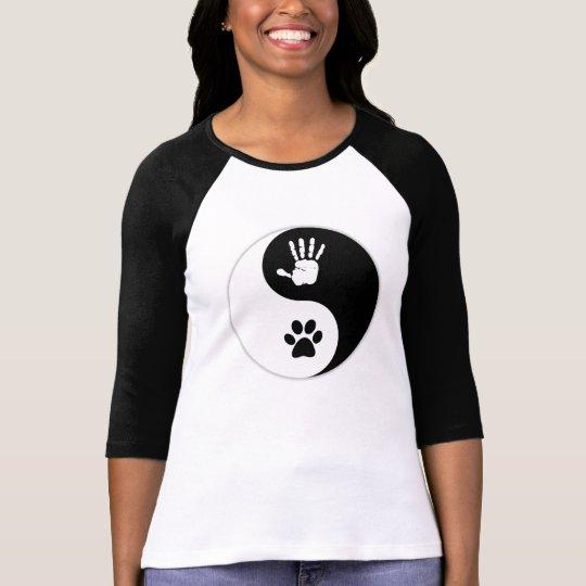 Camisa del béisbol de HandToPaw Yin-Yang de las