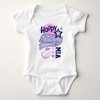 Camisa del béisbol del día de padre de la niña