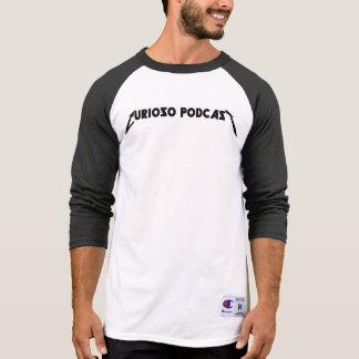Camisa del béisbol del podcast de Curioso