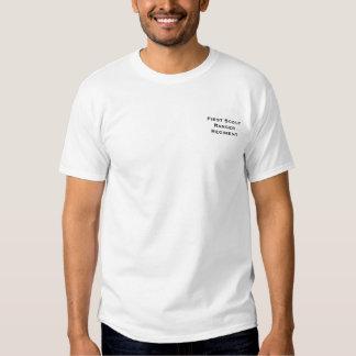 Camisa del blanco del guardabosques del explorador