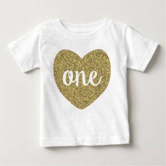 Camisa del brillo del oro del chica uno del