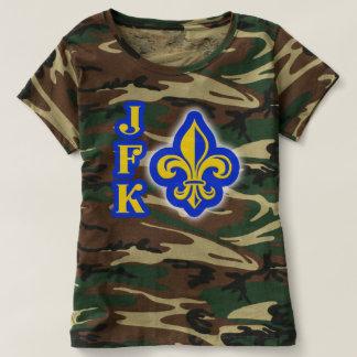 Camisa del camuflaje de la flor de lis de JFK