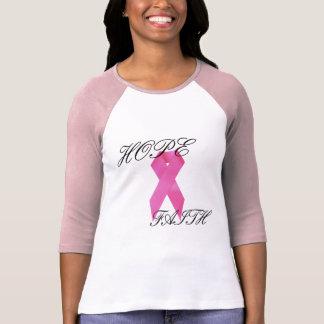 Camisa del cáncer de pecho de la esperanza/de la