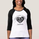 Camisa del corazón de la cebra de la conciencia