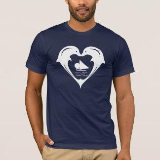 Camisa del corazón de los delfínes