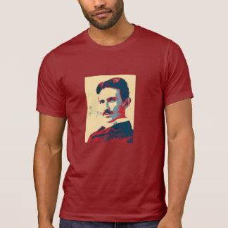 Camisa del cuello barco de Nikola Tesla