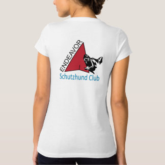 Camisa del cuello en v del logotipo del club de