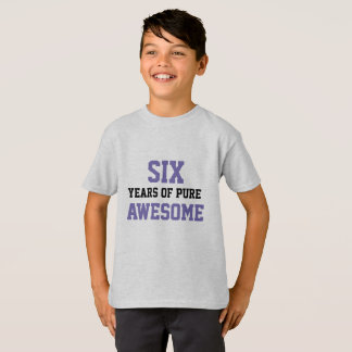 camisa del cumpleaños de 6 años