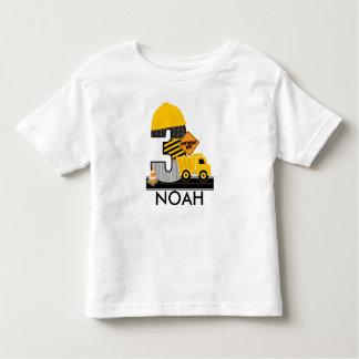 Camisa del cumpleaños de la construcción, edad 3