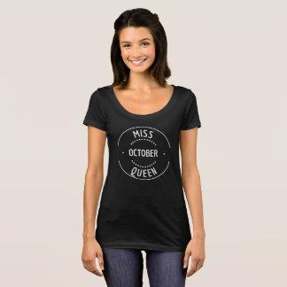 Camisa del cumpleaños de la mujer de octubre