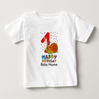 Camisa del cumpleaños de la primera camiseta del