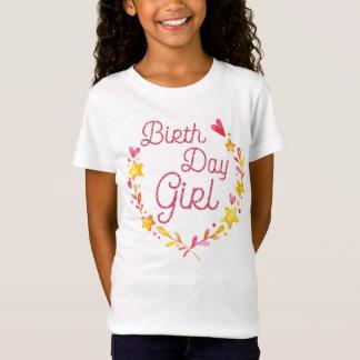 Camisa del cumpleaños de los chicas con efecto