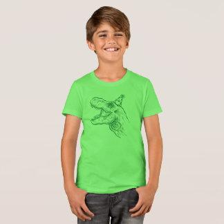 Camisa del cumpleaños del dinosaurio