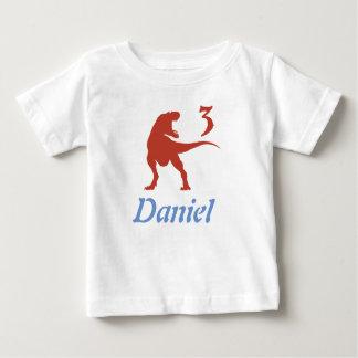 Camisa del cumpleaños del dinosaurio de los