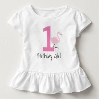 Camisa del cumpleaños del número del flamenco