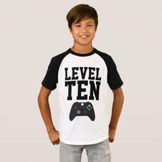 Camisa del cumpleaños del videojuego