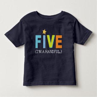 Camisa del cumpleaños para cinco