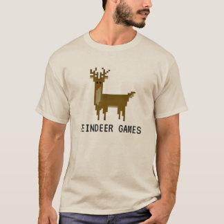 Camisa del día de fiesta de Rudolph del pixel de
