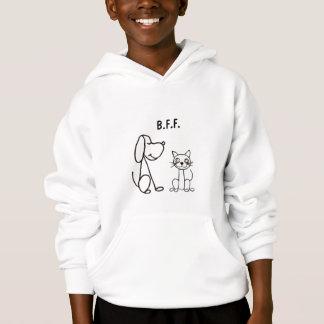 Camisa del dibujo animado del perro y del gato de