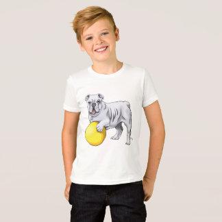 Camisa del ejemplo del dogo del niño
