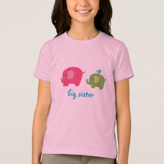 Camisa del elefante de la hermana grande