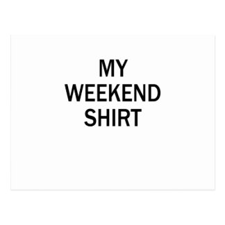camisa del fin de semana postal