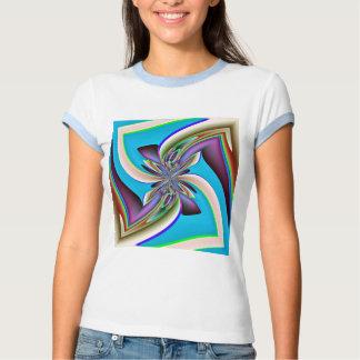 Camisa del fractal del remolino de la flor de la