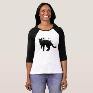 Camisa del francés del gato negro de Le Chat Noir