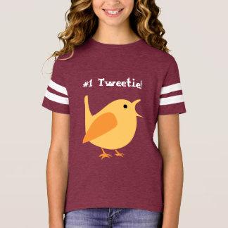 Camisa del fútbol de los chicas de #1 Tweetie,