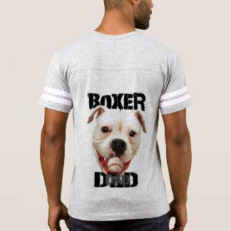 Camisa del fútbol del papá del perro del boxeador