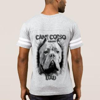 Camisa del fútbol del papá del perro del corso del