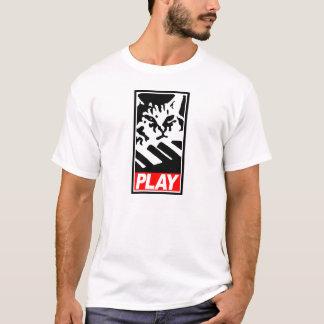 Camisa del gato del teclado del JUEGO