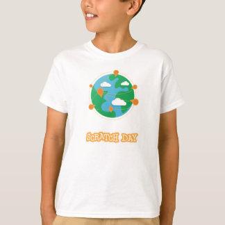 Camisa del globo del día del rasguño (niños)