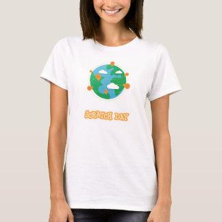 Camisa del globo del día del rasguño (para mujer)