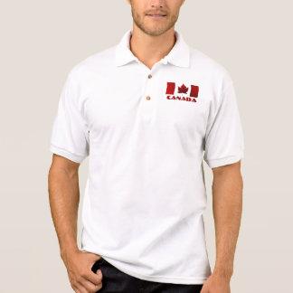 Camisa del golf de Canadá del polo de la bandera